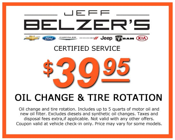 Oil Change & Tire Rotation | Jeff Belzer's Specials